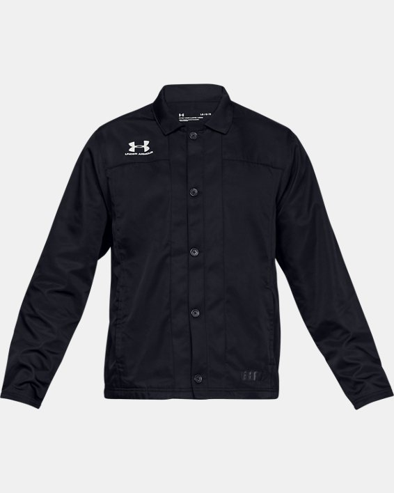 Men's UA Accelerate Touchline Jacket, Black, pdpMainDesktop image number 4