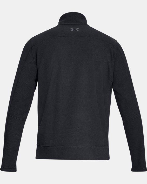 Men's UA OffGrid Fleece Solid ¼ Zip, Black, pdpMainDesktop image number 4