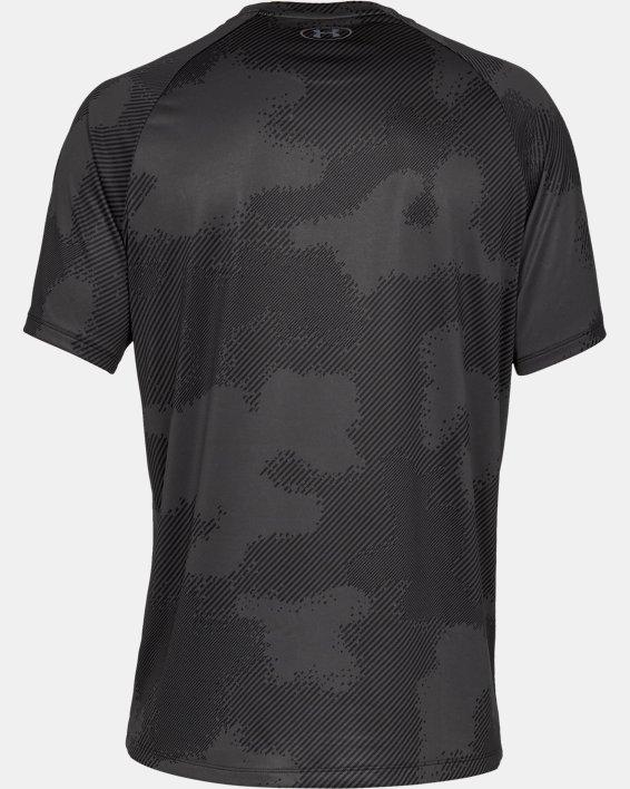 Haut à manches courtes imprimé UA Tech™ 2.0 pour homme, Black, pdpMainDesktop image number 4