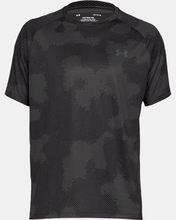 Haut à manches courtes imprimé UA Tech™ 2.0 pour homme, Black, pdpMainDesktop image number 3