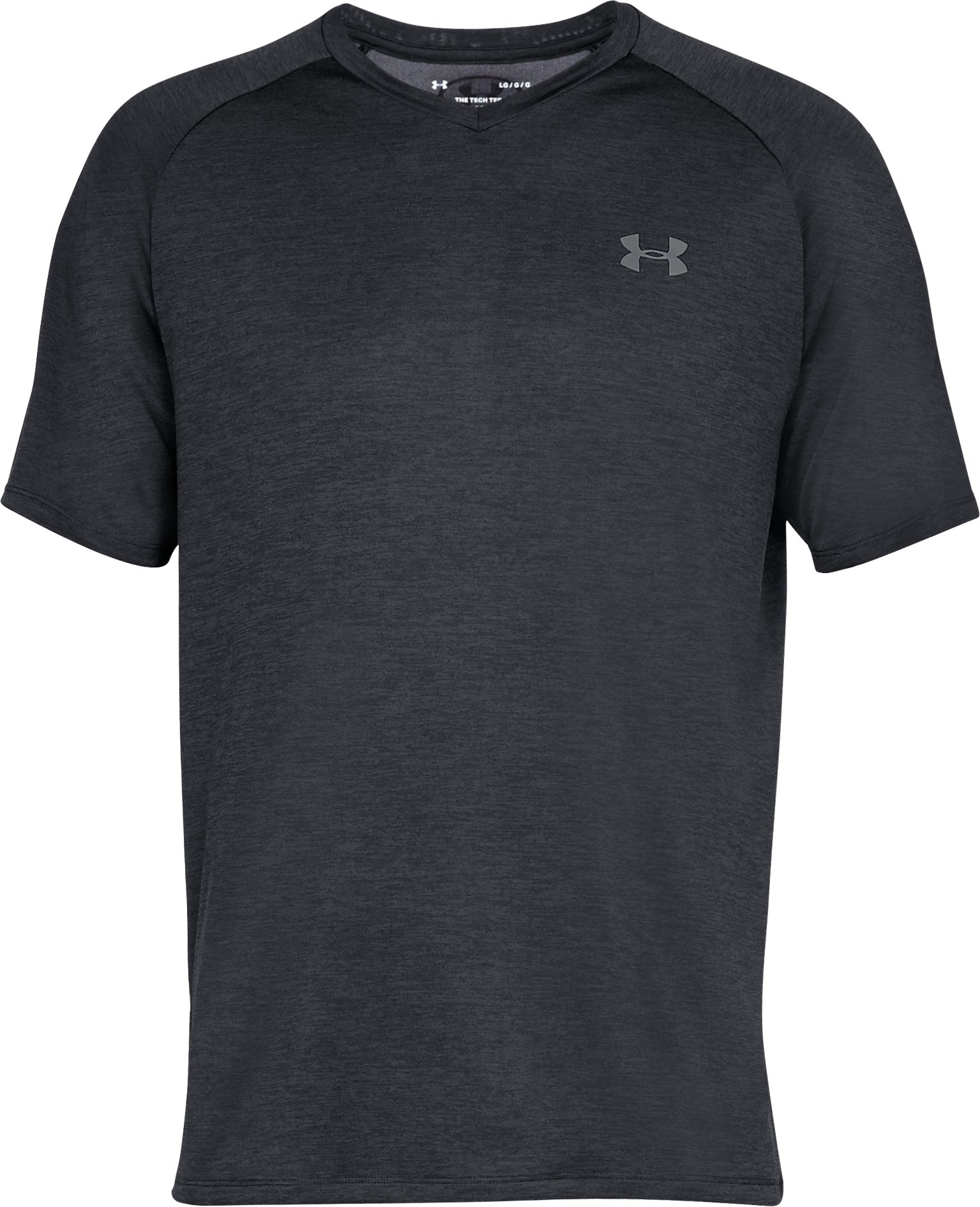 Men's UA Tech™ V-Neck Short Sleeve, Black ,