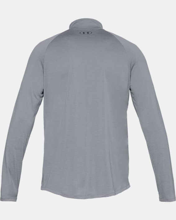 Men's UA Tech™ ½ Zip Long Sleeve, Gray, pdpMainDesktop image number 4