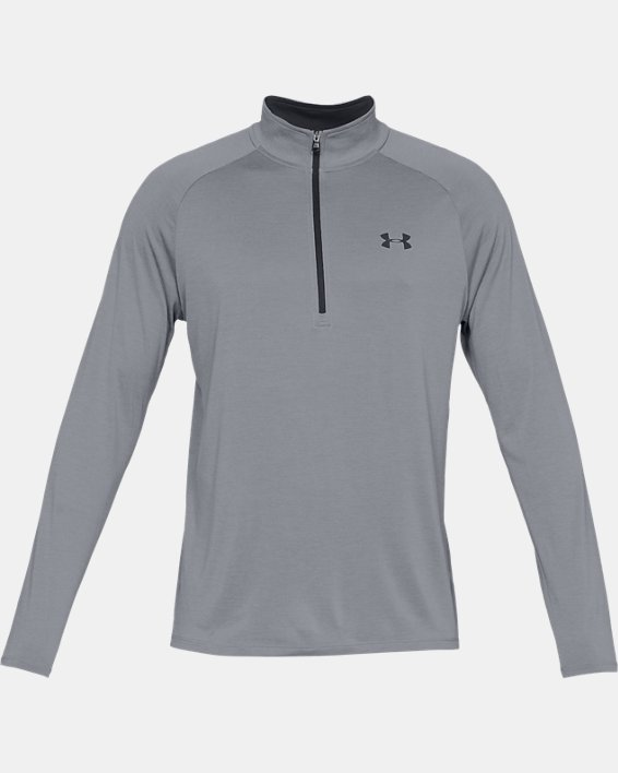 Men's UA Tech™ ½ Zip Long Sleeve, Gray, pdpMainDesktop image number 3