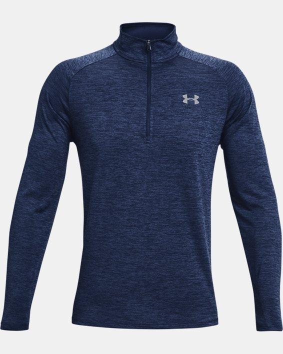 Herren UA Tech™ Langarm-Shirt mit ½-Zip, Navy, pdpMainDesktop image number 4
