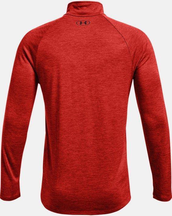 Men's UA Tech™ ½ Zip Long Sleeve, Orange, pdpMainDesktop image number 5