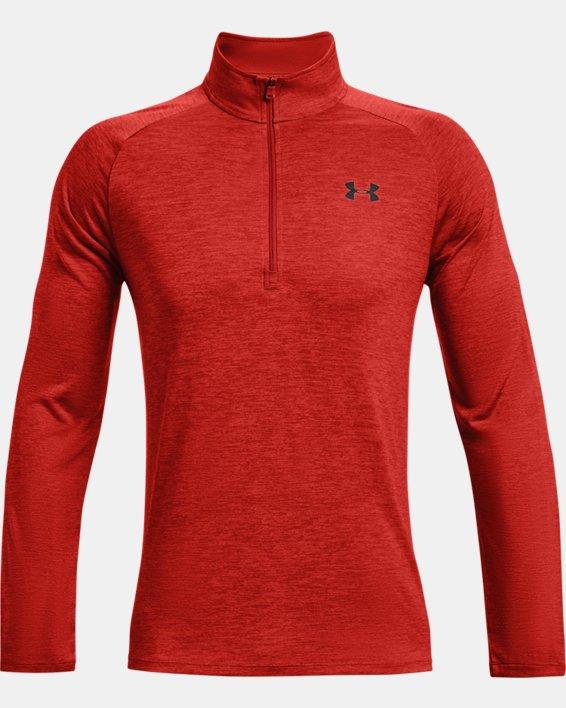 Men's UA Tech™ ½ Zip Long Sleeve, Orange, pdpMainDesktop image number 4