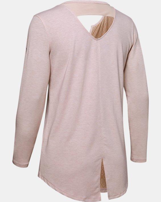 Women's UA RECOVER™ Sleepwear Long Sleeve, Pink, pdpMainDesktop image number 4