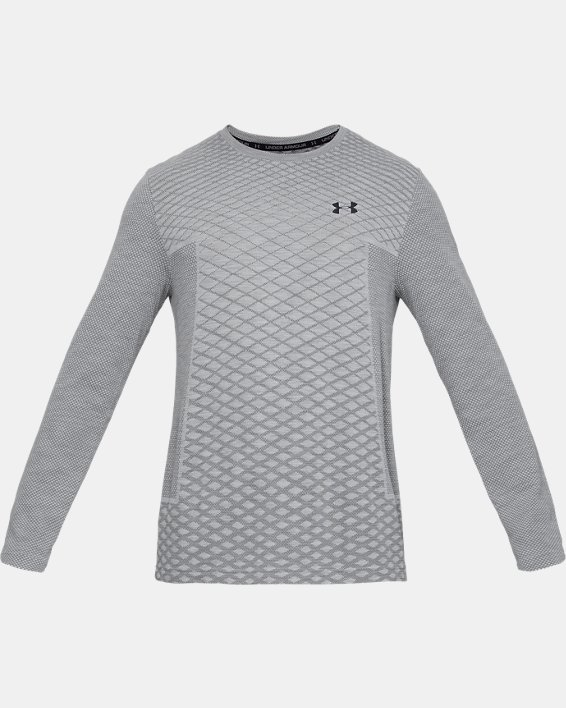 Men's UA Vanish Seamless Long Sleeve, Gray, pdpMainDesktop image number 3