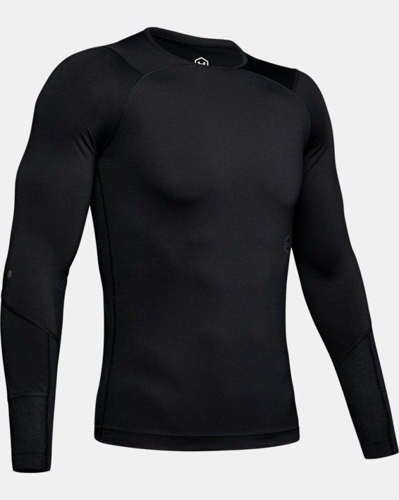 Men's UA RUSH™ Compression Long Sleeve, Black, pdpMainDesktop image number 4