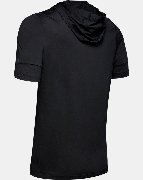 Men's UA RUSH™ Short Sleeve Hoodie, Black, pdpMainDesktop image number 5