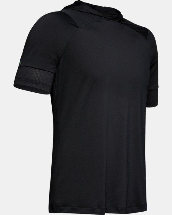 Men's UA RUSH™ Short Sleeve Hoodie, Black, pdpMainDesktop image number 4