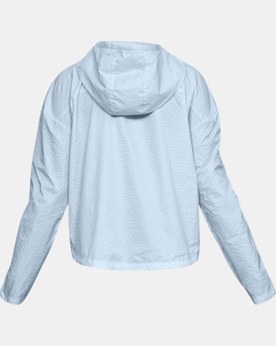 Women's UA Hybrid Woven Jacket, Blue, pdpMainDesktop image number 4