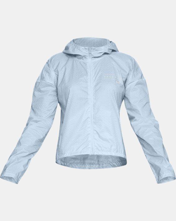 Women's UA Hybrid Woven Jacket, Blue, pdpMainDesktop image number 3
