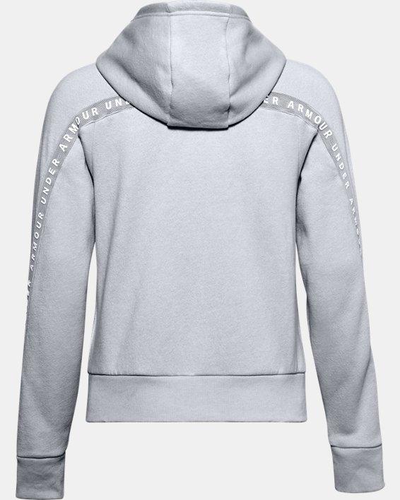 Women's UA Taped Fleece Full Zip, Gray, pdpMainDesktop image number 4