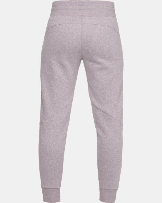 Women's UA Taped Fleece Pants, Gray, pdpMainDesktop image number 4