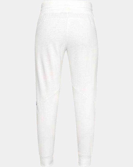 Women's UA Taped Fleece Pants, White, pdpMainDesktop image number 4