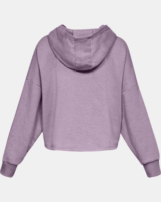 Women's UA Taped Fleece Hoodie, Purple, pdpMainDesktop image number 4