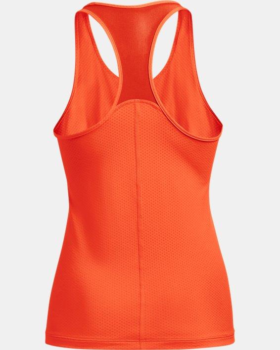 Damen HeatGear® Armour Racer Tanktop, Orange, pdpMainDesktop image number 4