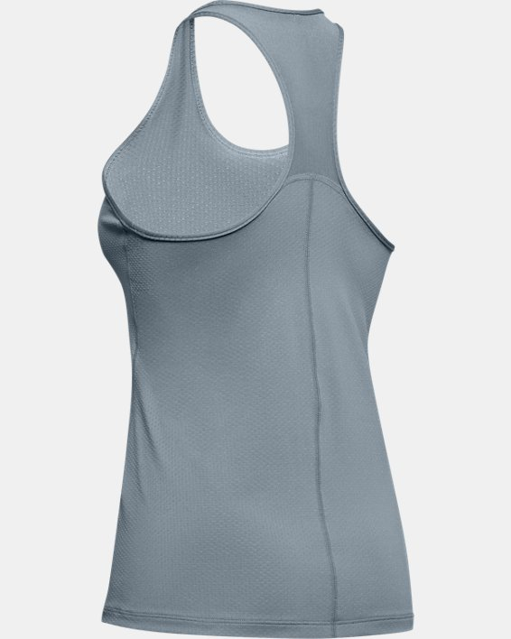 Women's HeatGear® Armour Racer Tank, Green, pdpMainDesktop image number 5