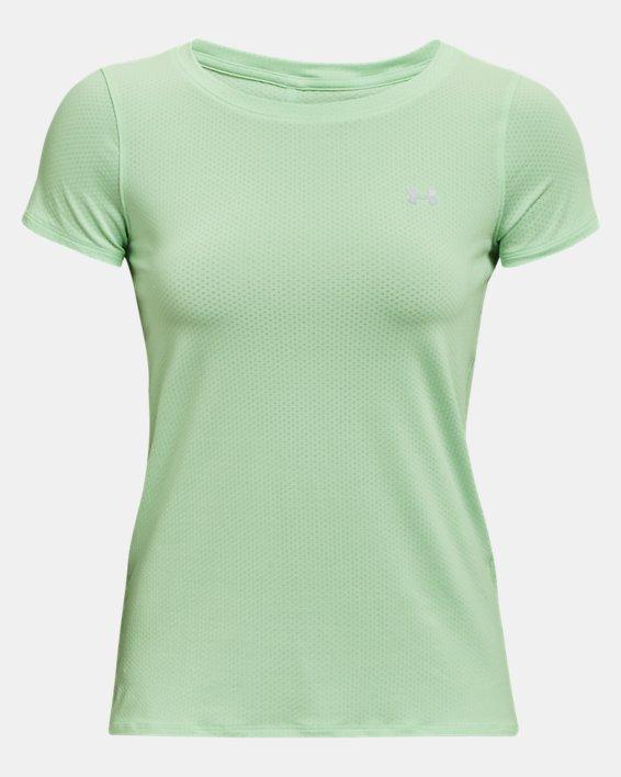 Women's HeatGear® Armour Short Sleeve, Green, pdpMainDesktop image number 4
