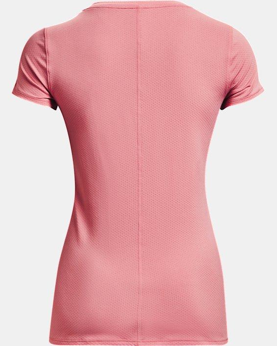 Women's HeatGear® Armour Short Sleeve, Pink, pdpMainDesktop image number 5