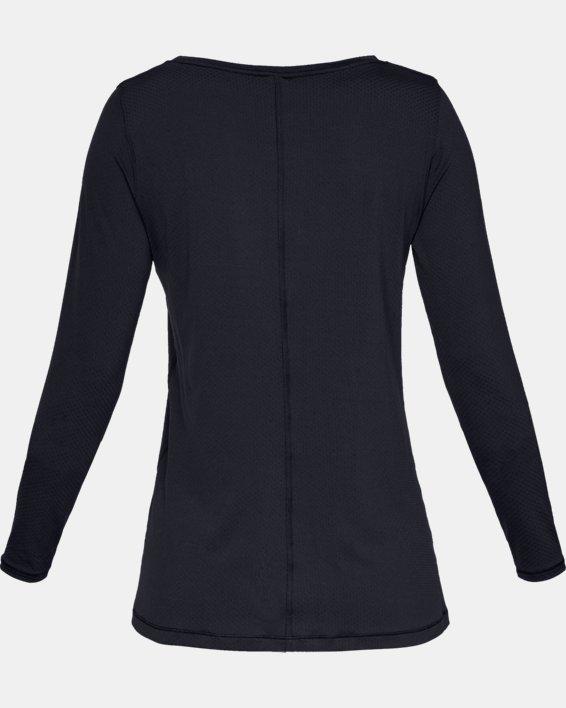 T-shirt à manches longues HeatGear® Armour pour femme, Black, pdpMainDesktop image number 5