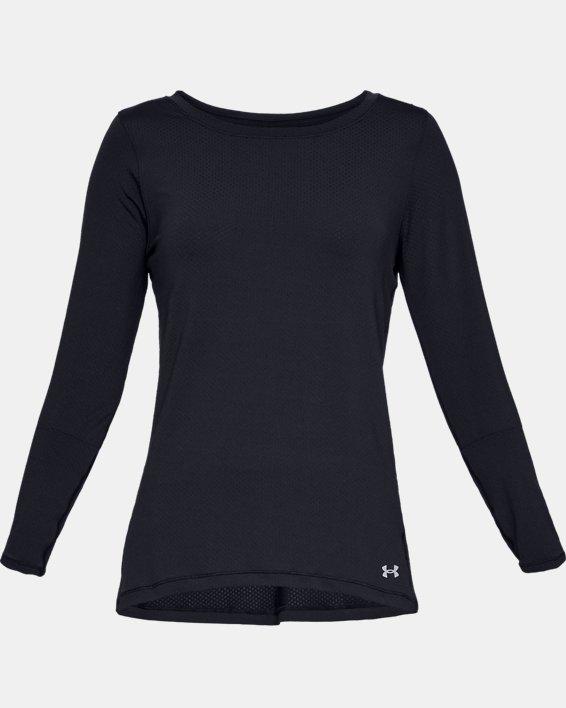 T-shirt à manches longues HeatGear® Armour pour femme, Black, pdpMainDesktop image number 4