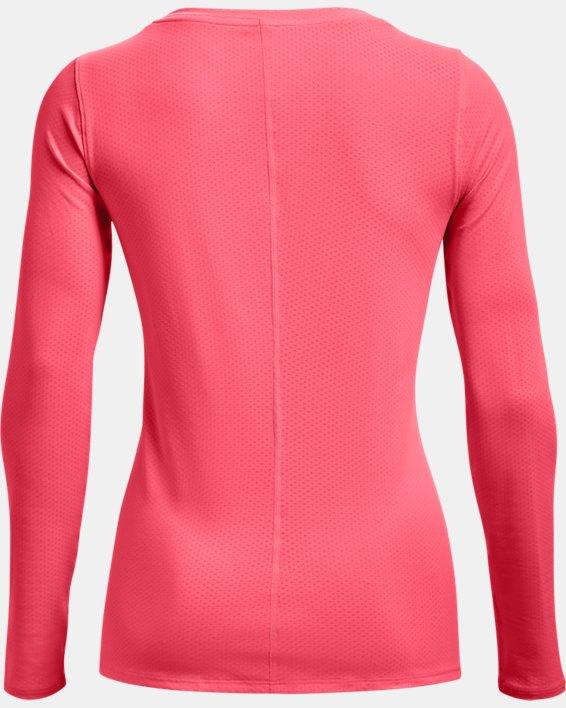 Women's HeatGear® Armour Long Sleeve, Pink, pdpMainDesktop image number 4