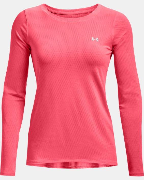 Women's HeatGear® Armour Long Sleeve, Pink, pdpMainDesktop image number 3