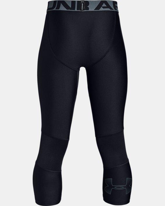 Boys' HeatGear® Armour ¾ Leggings, Black, pdpMainDesktop image number 5