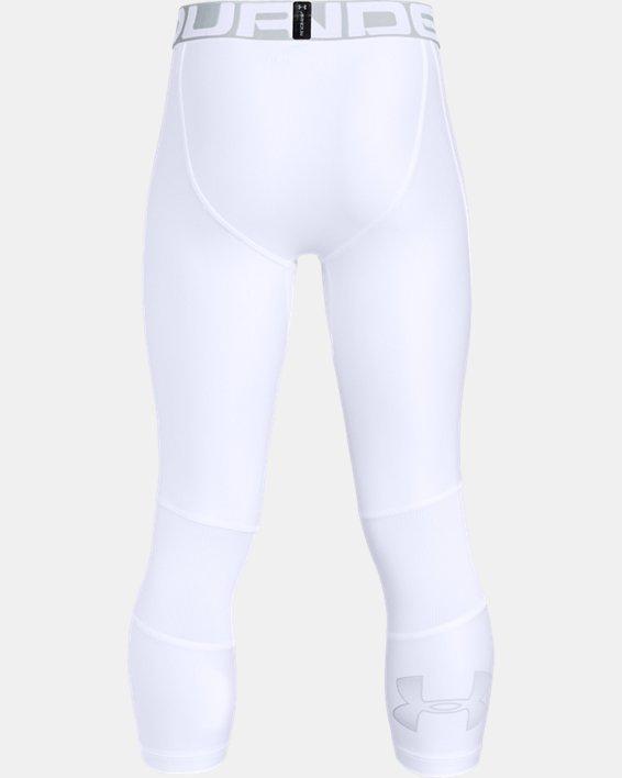 Boys' HeatGear® Armour ¾ Leggings, White, pdpMainDesktop image number 5
