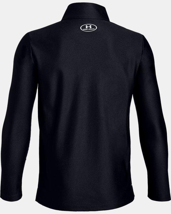 Boys' UA Tech™ ½ Zip, Black, pdpMainDesktop image number 1