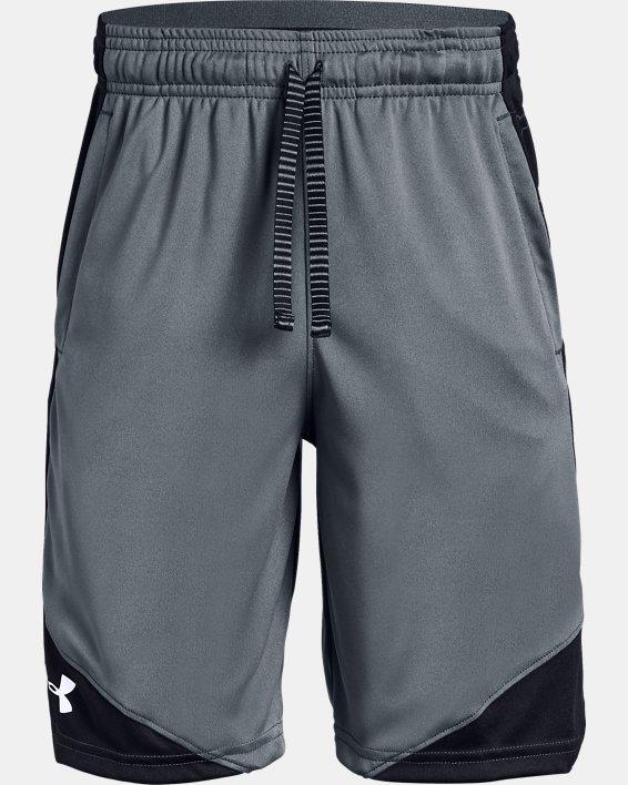 Boys' UA Stunt 2.0 Shorts, Gray, pdpMainDesktop image number 4