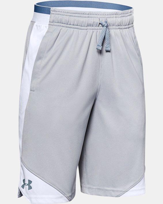 Boys' UA Stunt 2.0 Shorts, Gray, pdpMainDesktop image number 0