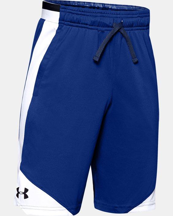 Boys' UA Stunt 2.0 Shorts, Blue, pdpMainDesktop image number 0