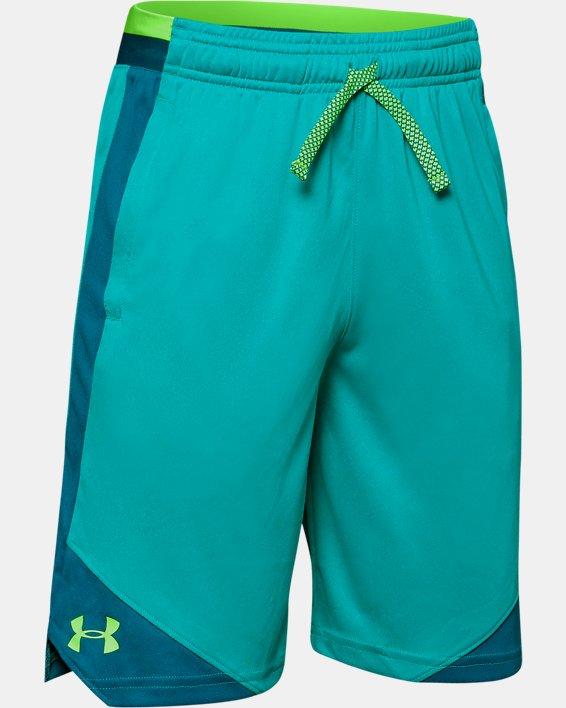 Boys' UA Stunt 2.0 Shorts, Green, pdpMainDesktop image number 0
