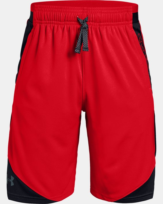 Boys' UA Stunt 2.0 Shorts, Red, pdpMainDesktop image number 4