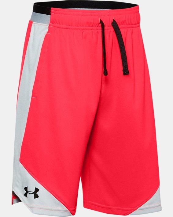 Boys' UA Stunt 2.0 Shorts, Red, pdpMainDesktop image number 0