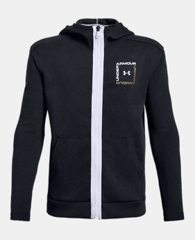 6f404ea26348 Boys  UA Unstoppable Double Knit Full Zip 2 Colors Available  50