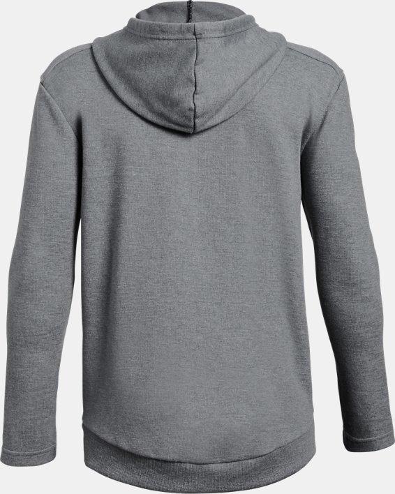 Boys' UA Unstoppable Double Knit Full Zip, Gray, pdpMainDesktop image number 1