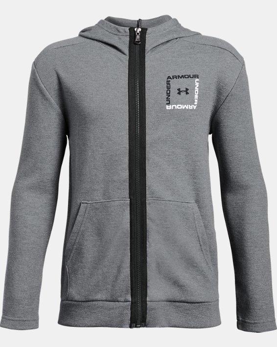 Boys' UA Unstoppable Double Knit Full Zip, Gray, pdpMainDesktop image number 0
