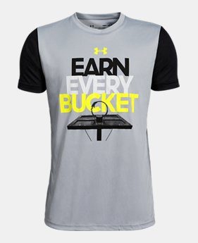 official photos 30cca 6305e Boys  UA Earn Every Bucket Short Sleeve FREE U.S. SHIPPING 1 Color  Available  14.99
