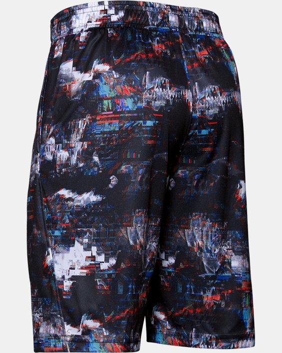 Boys' UA Velocity Printed Shorts, Black, pdpMainDesktop image number 1