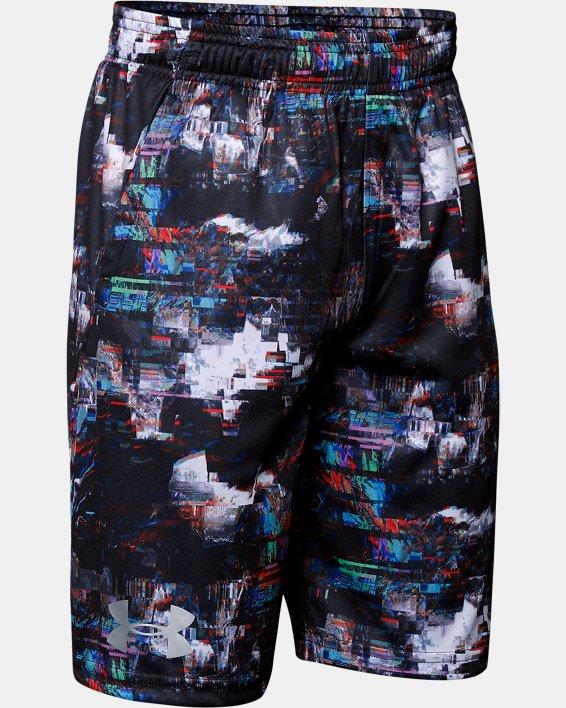 Boys' UA Velocity Printed Shorts, Black, pdpMainDesktop image number 0