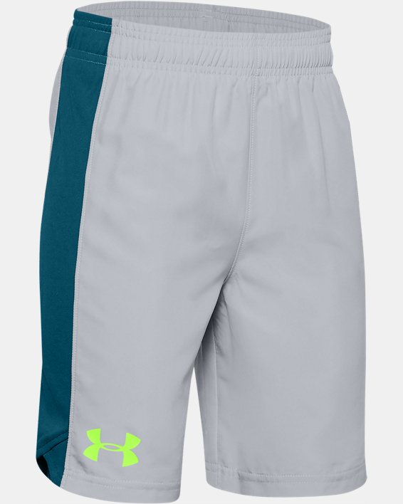Boys' UA Woven Shorts, Gray, pdpMainDesktop image number 0