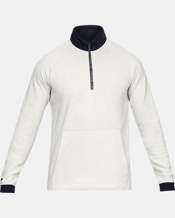 Men's UA Unstoppable Double Knit ½ Zip, White, pdpMainDesktop image number 3