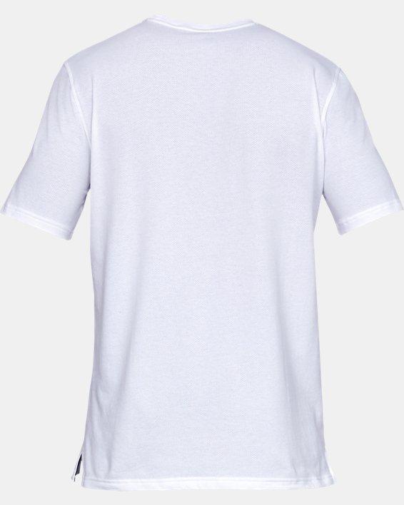 Men's UA Sportstyle Cotton Mesh T-Shirt, White, pdpMainDesktop image number 4