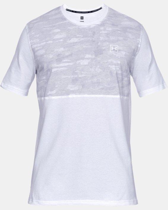 Men's UA Sportstyle Cotton Mesh T-Shirt, White, pdpMainDesktop image number 3