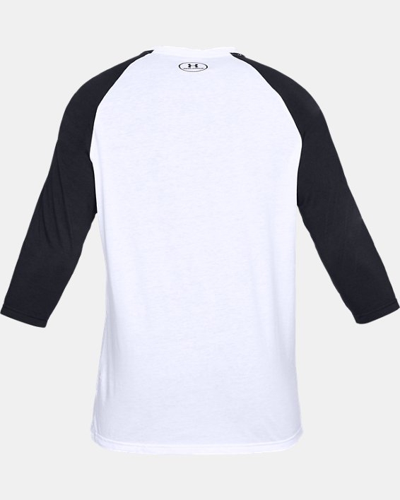 Men's UA Sportstyle Left Chest ¾ T-Shirt, White, pdpMainDesktop image number 4