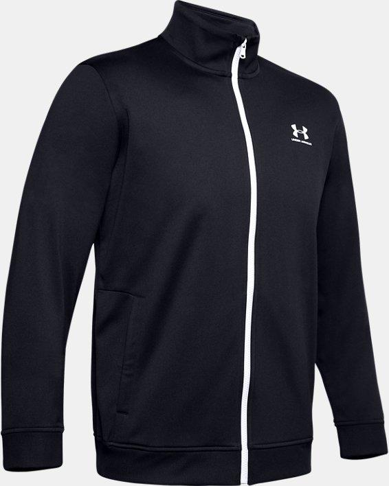 Men's UA Sportstyle Tricot Jacket, Black, pdpMainDesktop image number 6